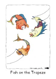 Fish on the Trapeze card front